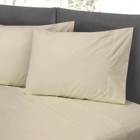 Hotel Style Cotton Rich Sheet Set // Linen (Full)