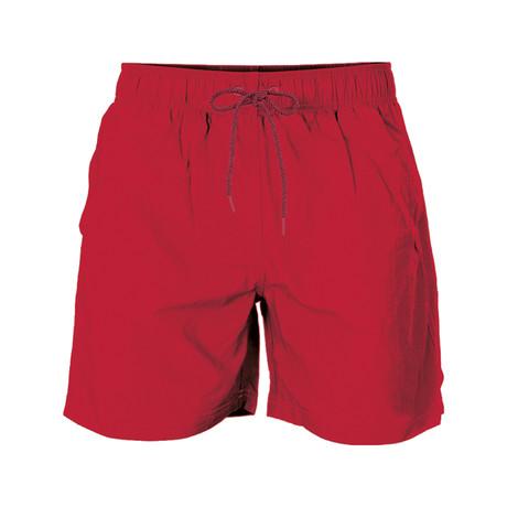 Solid Swim Short // Red (S)
