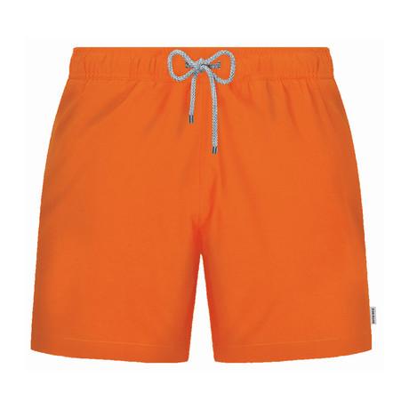 Solid Swim Short // Orange (S)