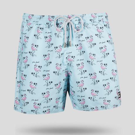 Flamingo Swim Short // Light Blue (S)