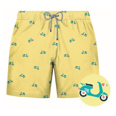 Vespa Swim Short // Yellow (S)