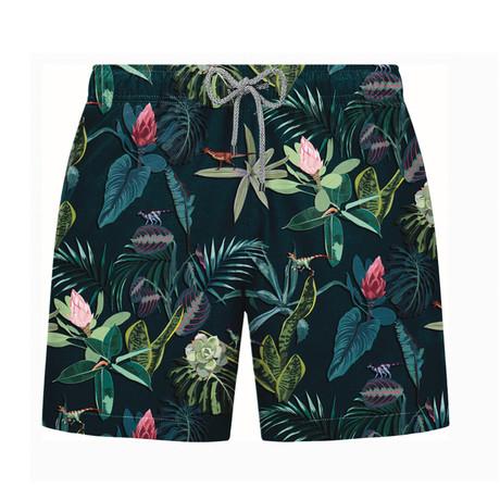 Forest Swim Short // Navy + Green (S)