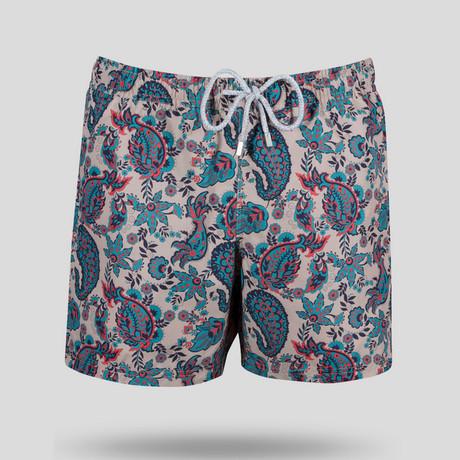 Paisley Swim Short // Multicolor (S)