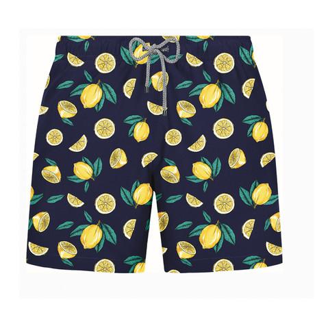 Lemon Swim Short // Navy (S)