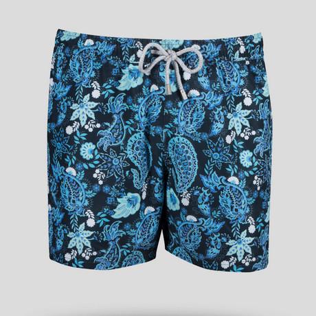Paisley Swim Short // Blue (S)