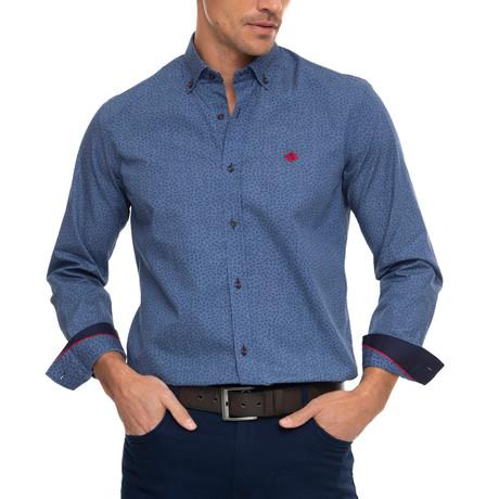Grain Shirt // Printed Denim Blue (XS)