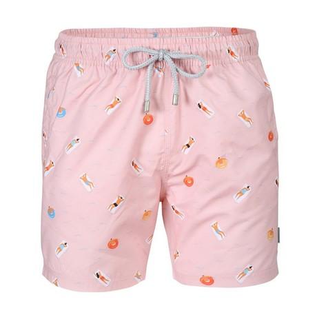 Seabed Swim Short // Light Pink (S)