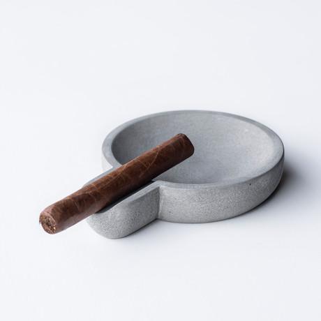Billow Cigar Tray // Concrete