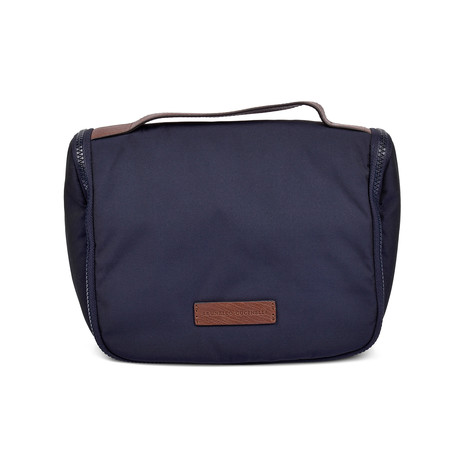 Brunello Cucinelli // Leather Poly Blend Personal Hygiene Bag // Navy