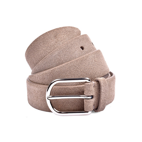 "Suede Belt // Beige (37"" Length)"
