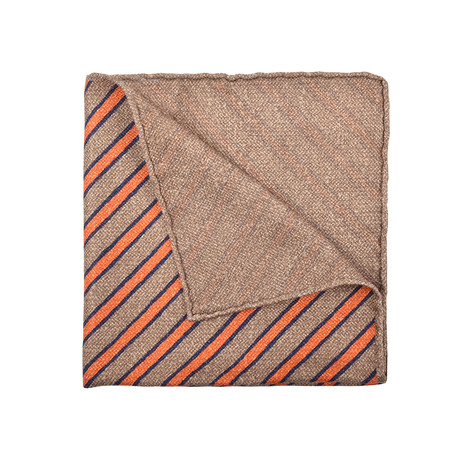 Pocket Square (Brown + Orange)
