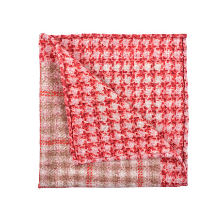 Pocket Square (Red + Tan)