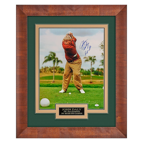 John Daly // Autographed Display