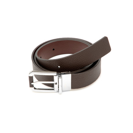 Dunhill // HPW800B Leather Belt // Brown