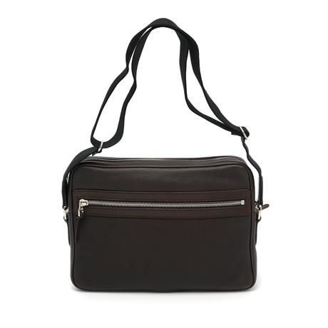 Dunhill // Men's Leather Messenger Bag // Brown