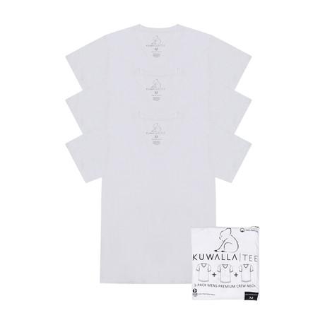 Essentials V-Neck Short-Sleeve Tee // White // Pack of 3 (S)