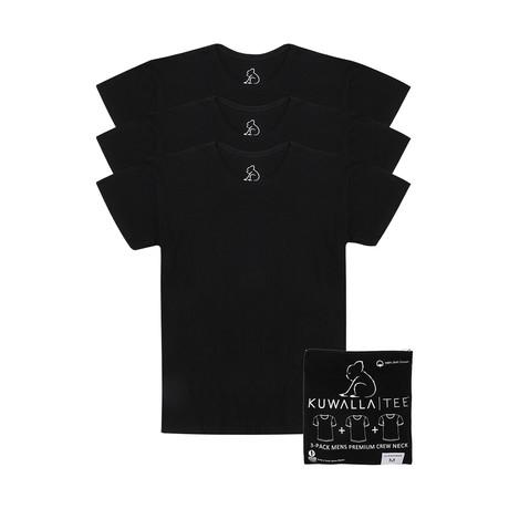Essentials Crew Neck Short-Sleeve Tee // Black // Pack of 3 (S)