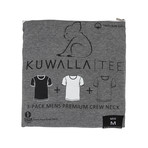 Essentials Crew Neck Short-Sleeve Tee // Black + White + Gray // Pack of 3 (XL)