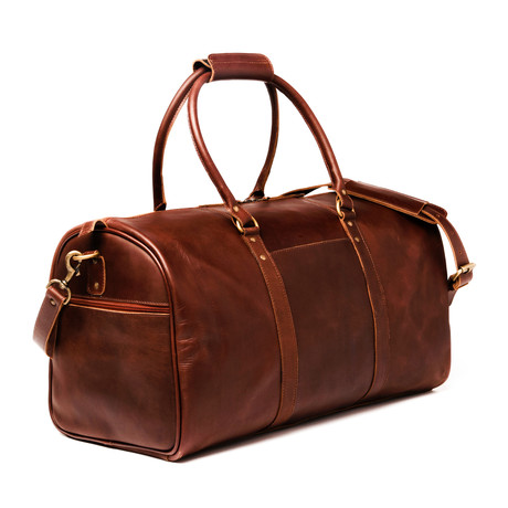 "Leather Travel Duffel Bag 21"" // Antique Brown"