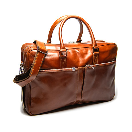 Leather Briefcase Slim – Serena Brown