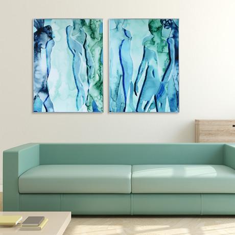 Blue + Green Silhouette // Anodized Gun Powder Aluminum Frame (Blue Silhouette)