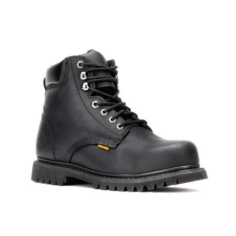 Bonanza // Men's 6'' Steel Toe Round-Toe Boots // Black (US: 5)