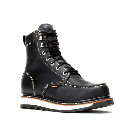 Bonanza // Men's 8'' Dual Density Moc Toe // Black (US: 5)