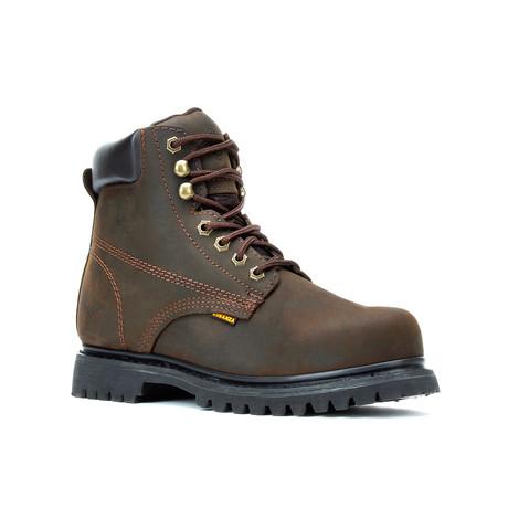 Bonanza // Men's 6'' Steel Toe Round-Toe Boots // Brown (US: 5)