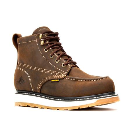 Bonanza // Men's 6'' Dual Density Moc-Toe Boots // Crazy Brown (US: 5)