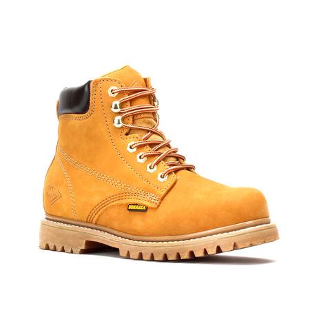 Bonanza // Men's 6'' Steel Toe Round-Toe Boots // NubuckTan (US: 5)