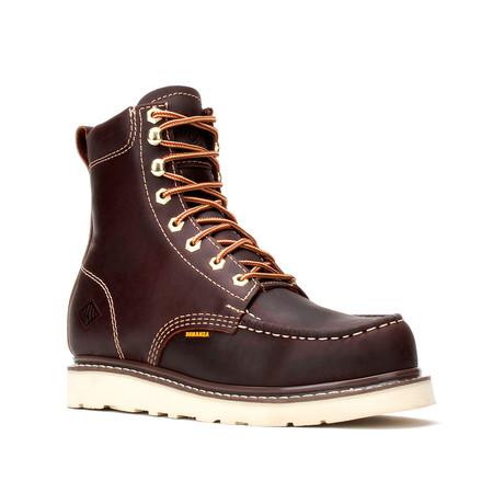 Bonanza // Men's 8'' Moc-Toe Wedge Boots // Burgundy (US: 5)