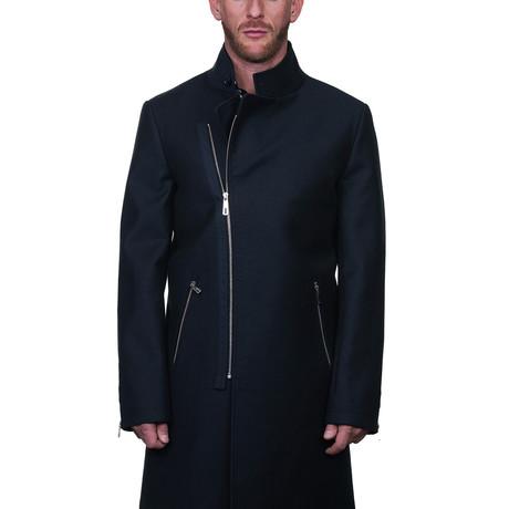 Fur Zip Peacoat II // Black (S)