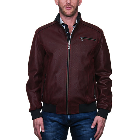 Cobra Leather Jacket // Red (S)