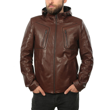 Victor Leather Jacket // Light Brown (XS)
