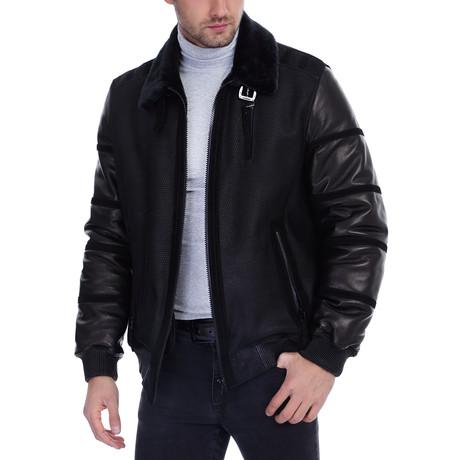 Lou Leather Jacket // Black (XS)