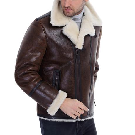 Rabah Leather Jacket // Whisky (XS)