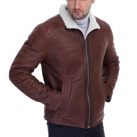 Ned Leather Jacket // Whisky (XS)