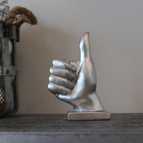 Thumbs Up Hand Sculpture (Choco-Black)
