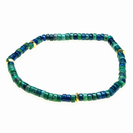 Jean Claude Jewelry // Stretchable Ranel Multicolor Stone Beaded Bracelet (Green)