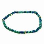 Jean Claude Jewelry // Stretchable Ranel Multicolor Stone Beaded Bracelet (Green)