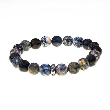 Dell Arte // Madagascar Ocean Agate Bead Bracelet // Multicolor
