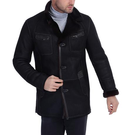 Emmet Waterproof Leather Jacket // Black (3XL)