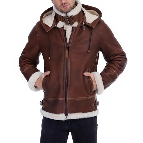 Odin Leather Jacket // Whisky (XS)