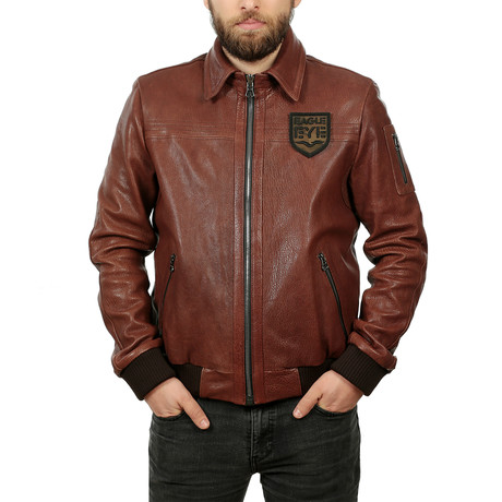 Farah Leather Jacket // Light Brown (XS)