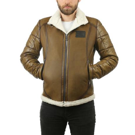 Arrick Leather Jacket // Green (XS)