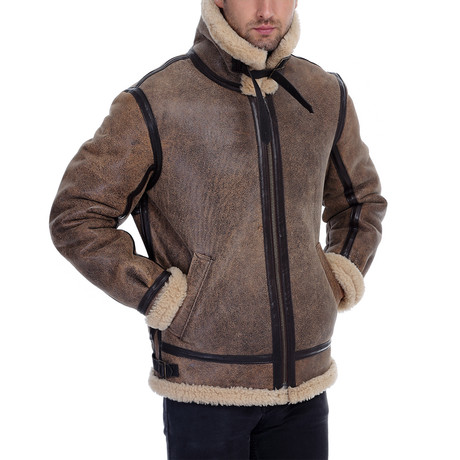 Valor Leather Jacket // Light Brown (XS)