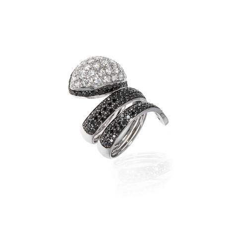 Roberto Coin 18k White Gold Diamond Ring // Ring Size: 6