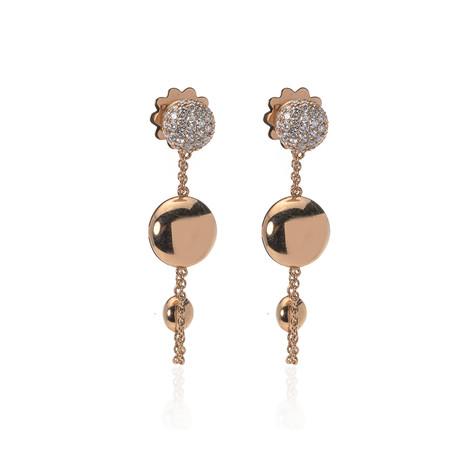 Roberto Coin 18k Rose Gold Diamond Earrings II