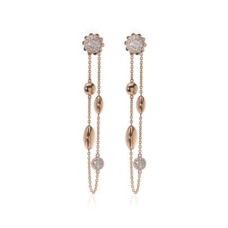 Roberto Coin 18k Rose Gold Diamond Earrings