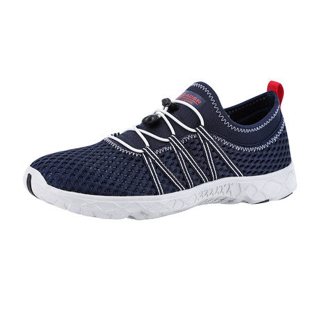 Men's Quick Drying Aqua Water Shoes // Navy + Beige (US: 7)